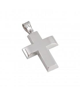 Λευκόχρυσος σταυρός 14κ.  ΣΤ20.