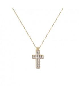 Χρυσός σταυρός 14κ. Κ26.