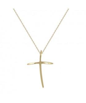 Χρυσός σταυρός 14κ.  Κ32.