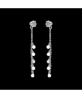 Ασημένια κρεμαστά σκουλαρίκια Vogue 4901203.