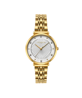 VOGUE Bliss Crystals Gold Stainless Steel Bracelet 2020815341