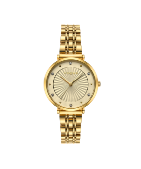VOGUE Bliss Crystals Gold Stainless Steel Bracelet 2020815342