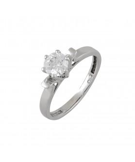 Λευκόχρυσο δαχτυλίδι μονόπετρο ζιργκόν 14κ. D22